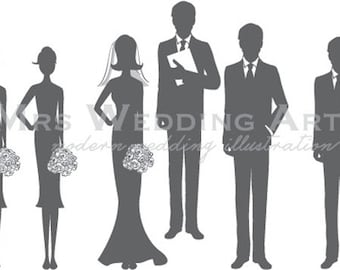Silhouette  Ceremony Program - Wedding Party 8