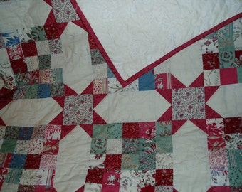 King size hand quilted quilt