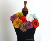 Wet felting: 2 pdf tutorials - felting wool rose and poppy, wet felting tutorial,  felt flower pattern, e-book instructions, learn to felt