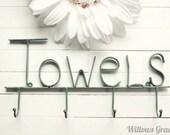 30 COLORS / Towel Hook / Bath Hook / Bathroom Storage /  Pool Decor / Beach Decor / Towel Holder / Bathroom Accessories / Pool Towel Hook