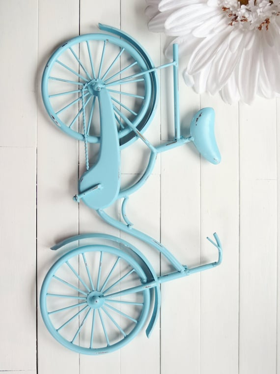 Items similar to metal bike art beach decor retro for Bicycle decorations home