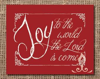 Hymn Print: Joy to the World