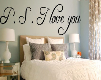 P. S. I Love You - Vinyl Wall Decal