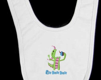 Monster Oh Nom Nom Nom Embroidered Baby Bib