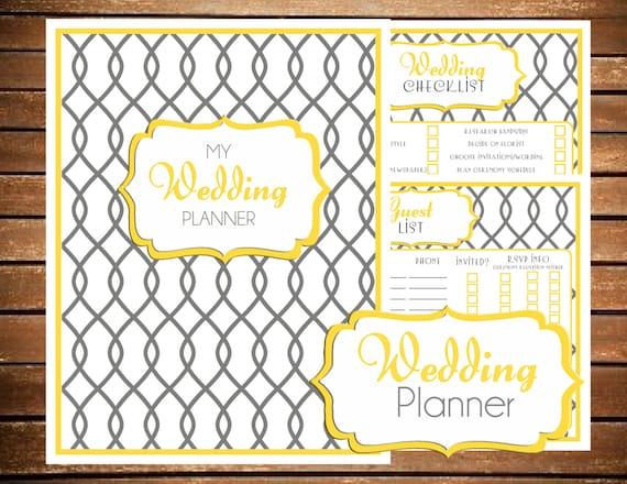 Printable Wedding Planner Binder Planning A Rustic: INSTANT DOWNLOAD Wedding Planner Printable By