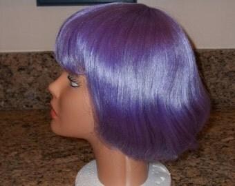 Purple wig,adult wig,short purple wig,Unused ,Halloween wig, Costume Wig ,Synthetic Hair, Mannequin,  La Buosse