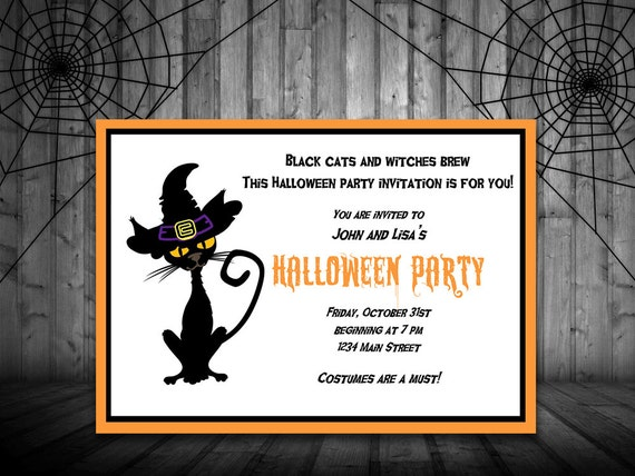 Halloween Party Invitation Template - Printable Halloween Party ...