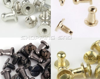 Wholesale Metal Button Studs And Spikes 9X6MM Silver/Black/Gold FREE SHIPPING Worldwide