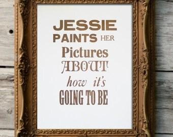 Jessie Paints A Picture Lyrics Joshua Kadison