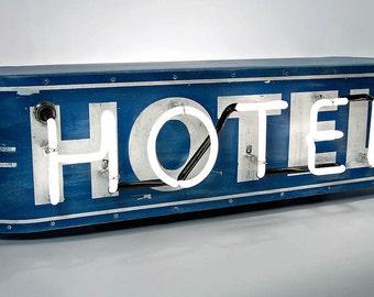 Neon Hotel/Motel Sign