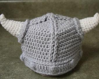 Crocheted Children's Viking Hat
