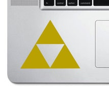 Zelda tristar crest symbol vinyl decal sticker
