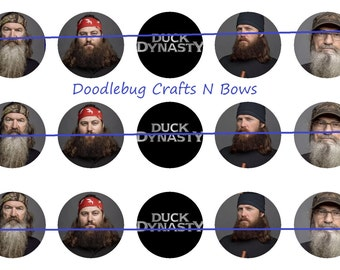 Duck Dynasty Images 1 inch circle b ottlecap cupcake topper template