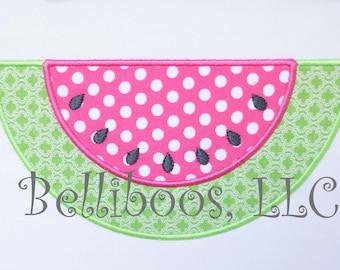 Watermelon Applique Design - Watermelon Embroidery Design - Summer Applique Design - Girl Applique Design - Picnic Applique Design