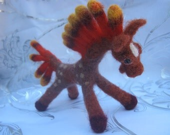 A Cheerful Young Horse - Handcrafted Ukrainian Woolen Toy