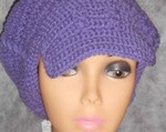 Plum Purple Crochet Hat