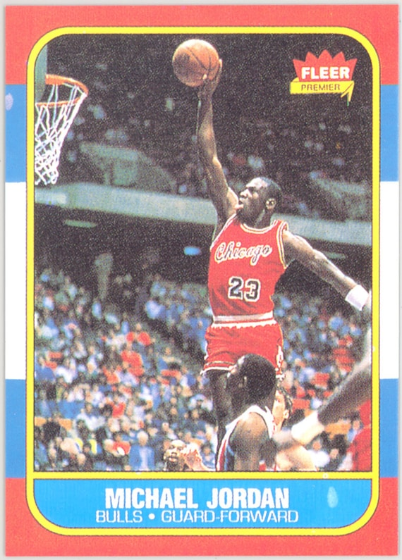 1986 87 Fleer Michael Jordan Rookie Authentic By Redhorse0088