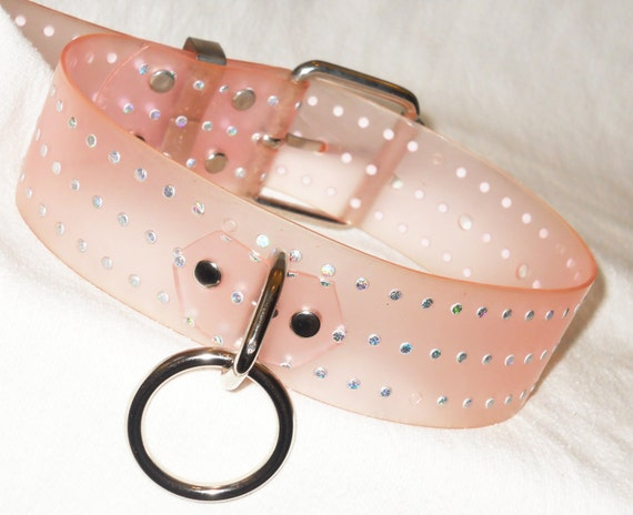 Pink bondage collar