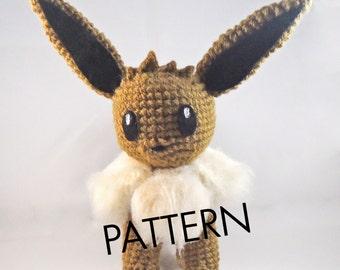 PDF CROCHET PATTERN Pokemon Eevee Amigurumi