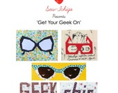 Get Your Geek On: Paper PiecingPDF  pattern pack Spectacles/Glasses chic!