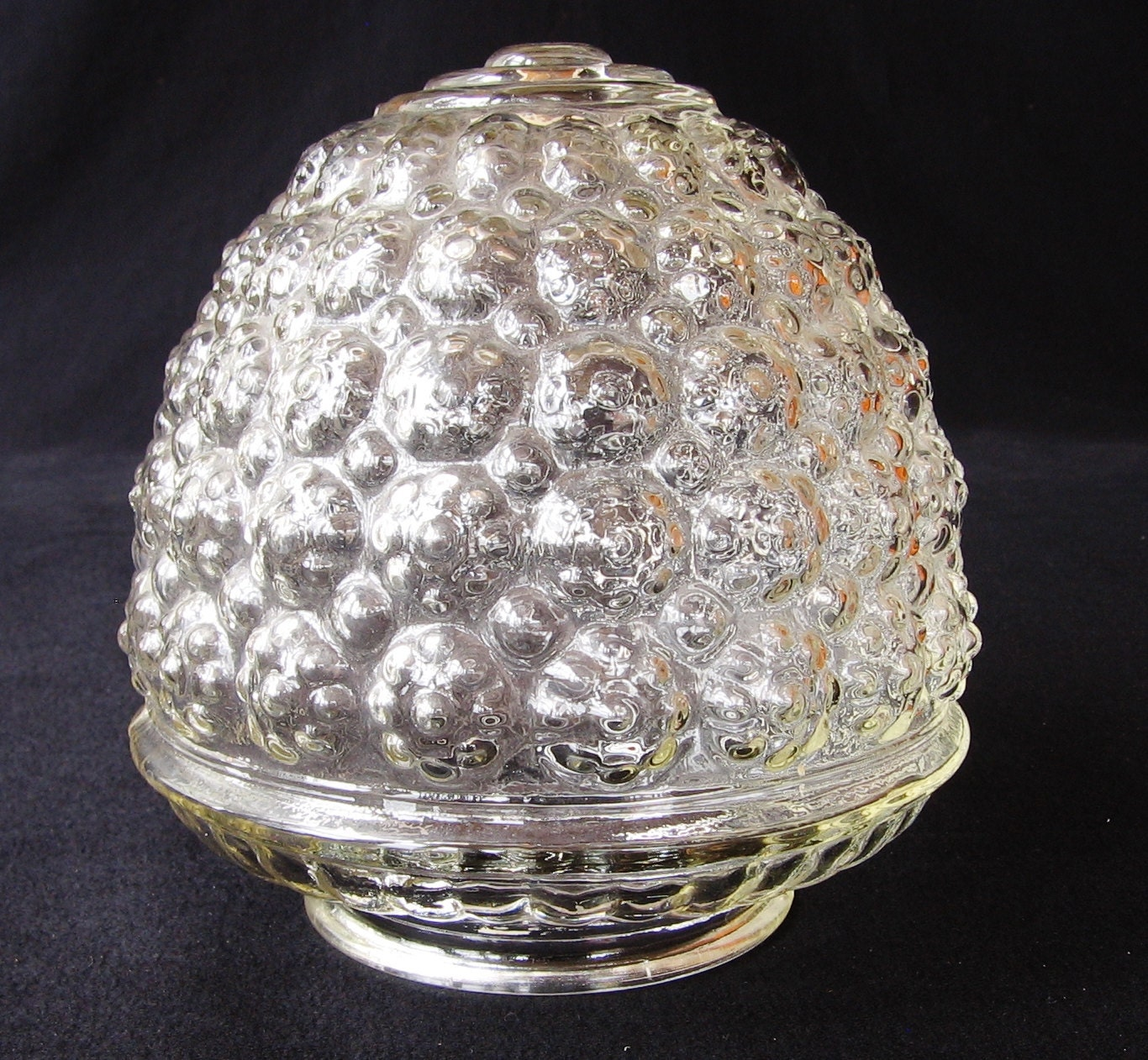 Vintage Bubble Glass Lamp Shade Mid Century Clear Glass