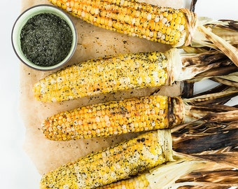Grilled Corn Food Photography, Wall Art Kitchen Decor Dining Room Decor Home Decor Restaurant Decor Yellow Green Brown Vegetable Photography