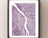 Portland Map Print - Oregon Art Poster - Keep Portland Weird - Pacific Northwest