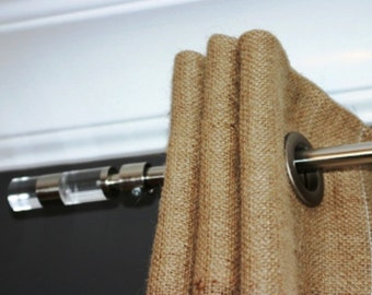 Burlap Curtain 38'' - Panel with grommets - choose your length