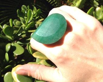Aventurine Crystal Ring