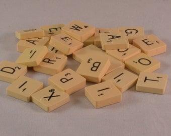 25 Vintage Scrabble tiles