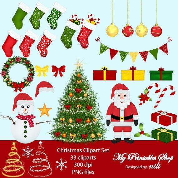 christmas clipart etsy - photo #11