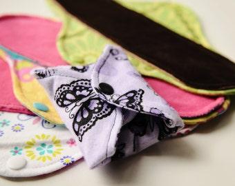 Custom Sampler Set of 3 Cloth Menstrual Pads - Mama Cloth