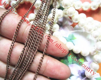 Wholesale very strong 10 meters 3x2mm thickness antiqued copper cable chains