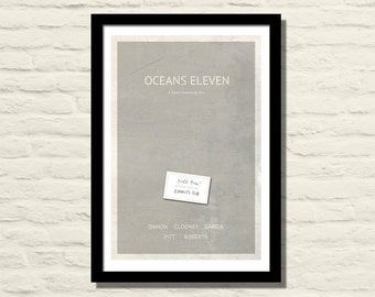 Oceans Eleven Movie Poster, Art Print, 11 X 17, Minimalist Poster, Home Decor