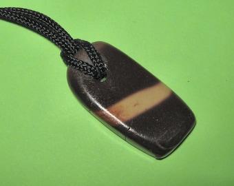ZEBRA STONE PENDANT on cord