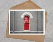 red window urban industrial postcard