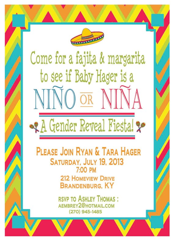Gender Reveal Invitation Templates as awesome invitations layout