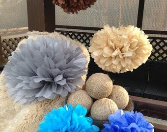 40 tissue paper pom poms-party poms-birthday poms-hanging poms-paperflower poms-nursery poms-graduation poms-paper -bulk poms-baby shower