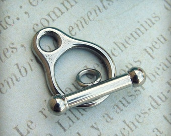 Stainless Steel Toggle Clasp, Stainless Steel Jewelry Findings, Set of 2  SST Findings Bar and Loop Clasp(023)