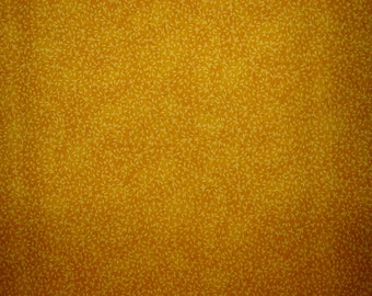 Fine Vine Mottled Deep Yellow Fabric