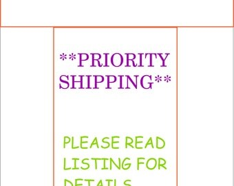 Rush My Baby Month Stickers and Ship Priority