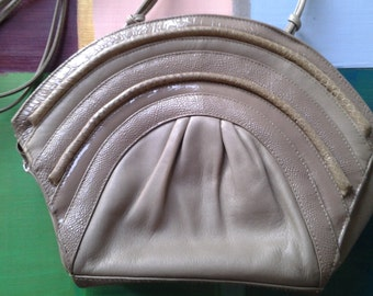 Vintage 80's Leather Shell Purse