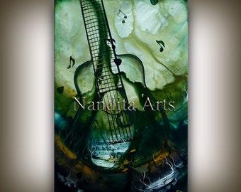 GUITAR Art for Sale - Guitar painting ORIGINAL abstract Music art for sale online fine art gallery modern guitar art for sale Nandita