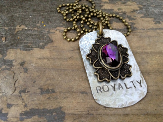 Royalty Dog Tag Necklace