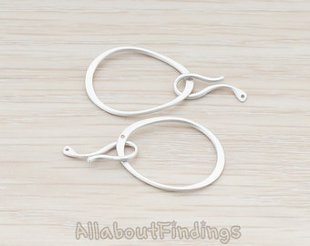 BSC001-MR  // Matte Original Rhodium Plated Hook Clasp, 2pc