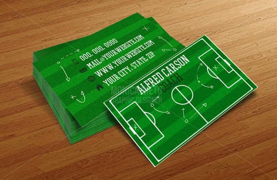 Custom soccer coach business cards template soccer pitch football il570xn colourmoves