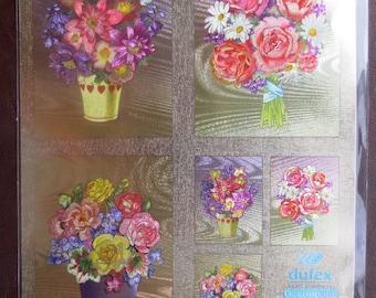 Beautiful floral Dufex foil decoupage sheet 248797B