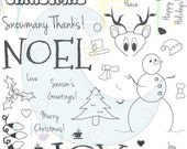 "2013 Get Inky High Quality Photopolymer Holiday 6x8"" Stamp Set"