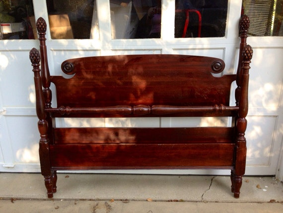 Antique Mahogany Pineapple Post Bed By Allthingsbeckett On