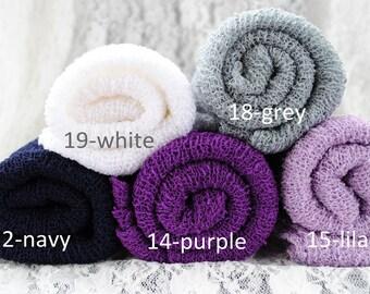 Newborn Baby Infant Stretch Knit Wrap Photo Photography Prop Mum Scarf Baby Blanket